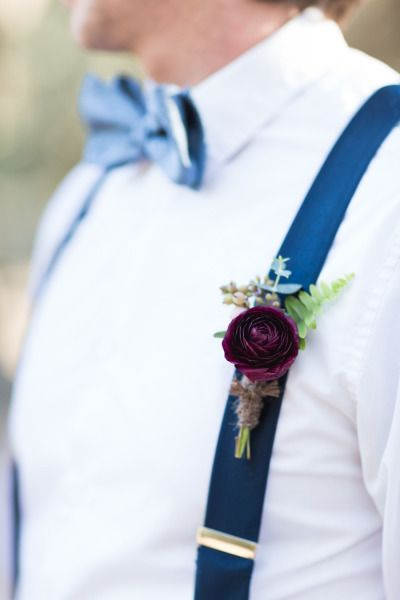 Jewel-toned boutonniere: http://www.stylemepretty.com/little-black-book-blog/2015/01/28/organic-jewel-tone-wedding-inspiration/ | Photography: Koman - http://komanphotography.com/
