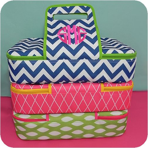 Casserole carriers and lots of other cute things on this site!