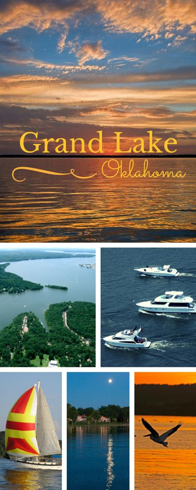 Grand Lake in northeast Oklahoma offers 46,500 surface gleaming acres of water and 1,300 miles of shoreline to explore.  The shoreline is full of attractions, restaurants, state parks and great places to stay.