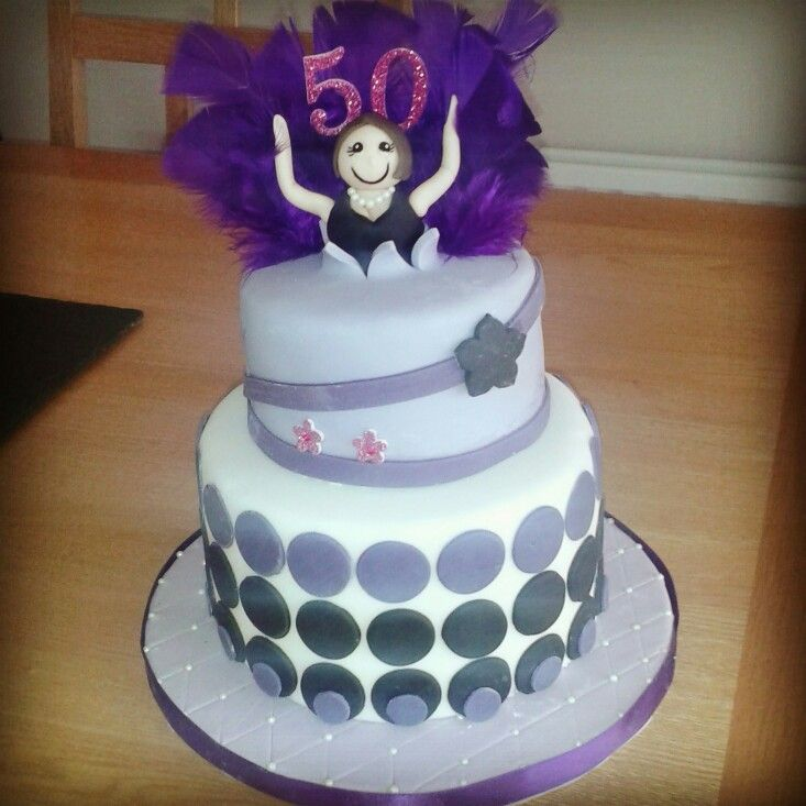 50th Birthday Cake For Women Party DIY Ideas Pinterest