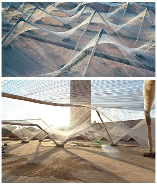 Loom-Hyperbolic by Barkow Leibinger Architects, Marrakech 4th Biennale 2012    The installation is a tribute to Moroccan hand-craft culture and Marrakech geometrical architecture.    #futuretrips: Membrane