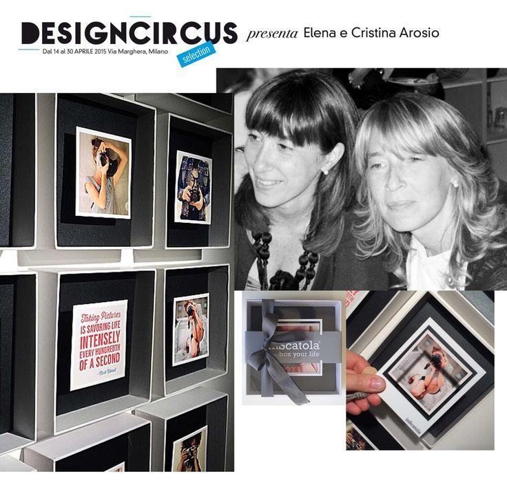 DesignCircus Stationary in via Marghera, dal 14 al 30 aprile, presenta Elena e Cristina Arosio. Architetti e sorelle, danno vita a InScatola, evoluzione del concetto di cornice e originale soluzione per la fotografia del cuore.