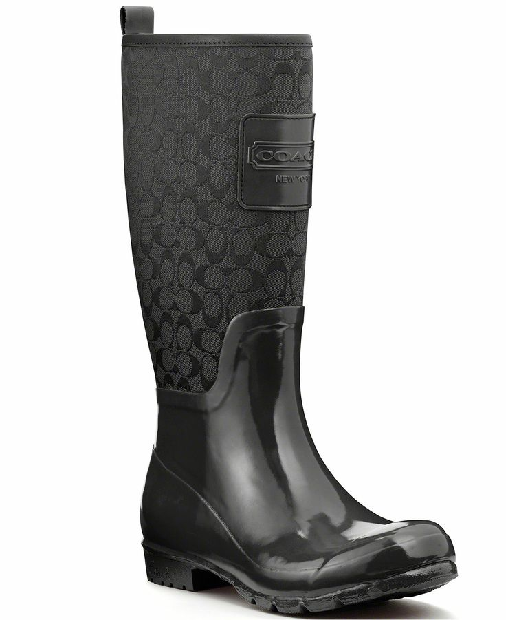 $89 COACH PEARL RAINBOOT - Boots - Shoes - Macy's
