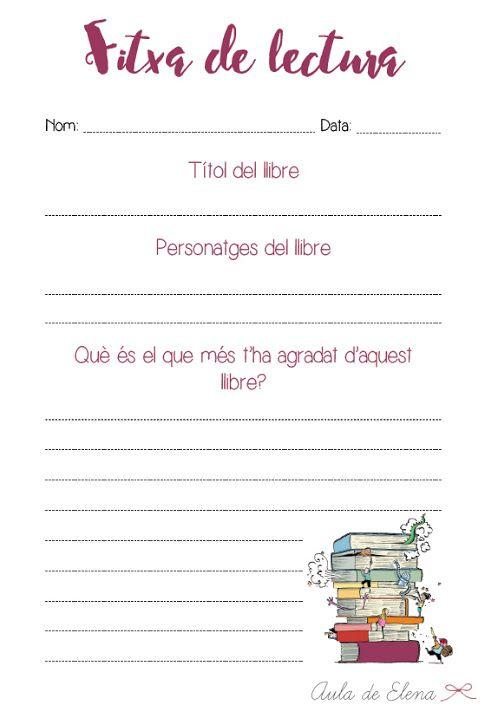 Fitxa de lectura del blog Aula de Elena. Descargable gratis.