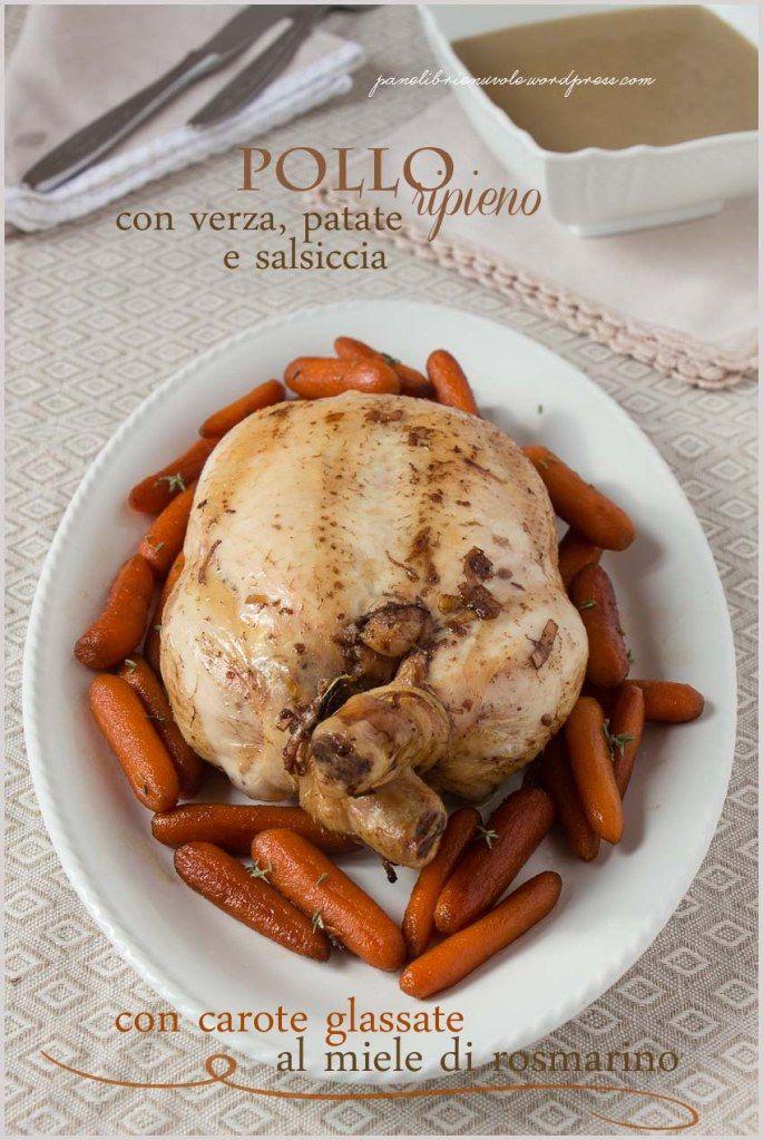 pollo ripieno di verza, patate e salsiccia