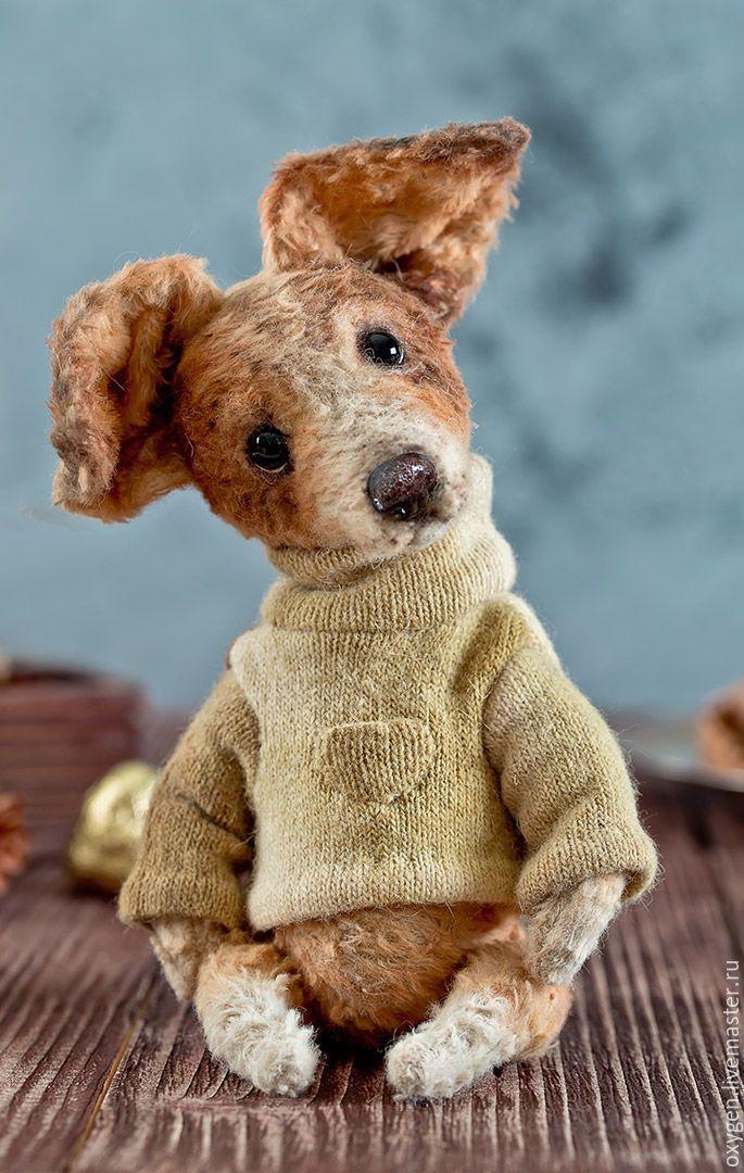 Купить Собачка Тяпа - мишка, мишка тедди, вискоза, собака, игрушка, подарок, авторская игрушка