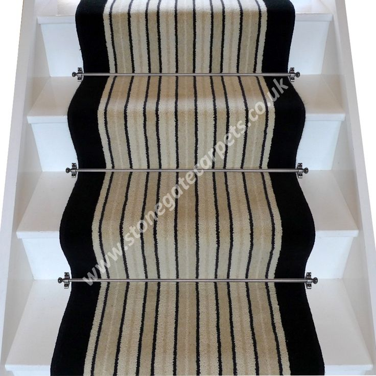 Brintons Brighton Rock and Jet Stair Runner
