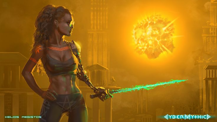 Helios megistos #cybermythica #cyberpunk #mythology