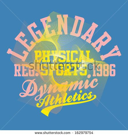 college athletic sports slogan vector art - stock vector