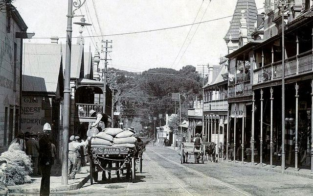 Busy Main rd, Wynberg c1900. by Etiennedup, via Flickr