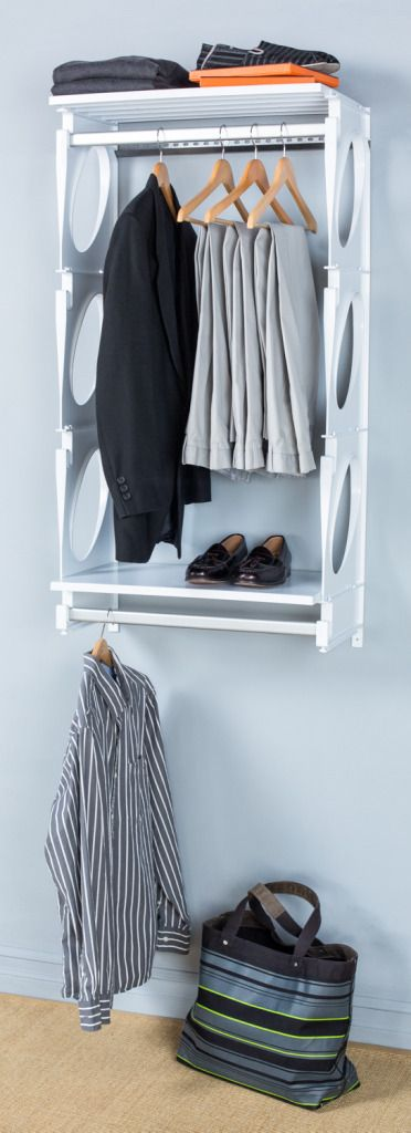 KiO Storage Closet Organizers Kit Is Lightweight And Durable, Plus Quick  And Easy To Install.