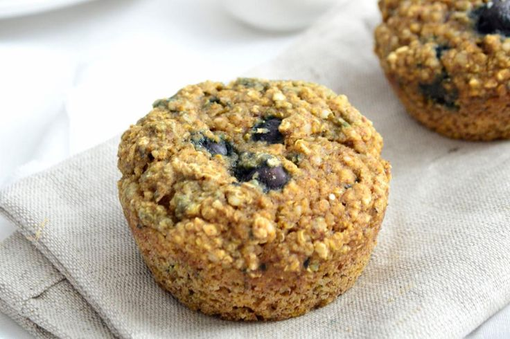 Healthy vegan and gluten free blueberry quinoa muffins make a great breakfast, skip the commercial muffin and make these!