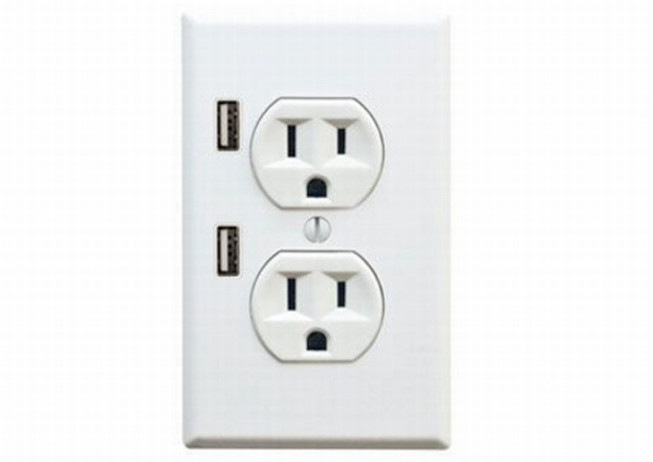 outlets with USB ports! Brilliant!