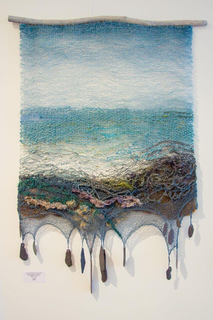 Eta Ingham Lawrie Wide Horizon. Hand dyed and woven hanging. #textiles