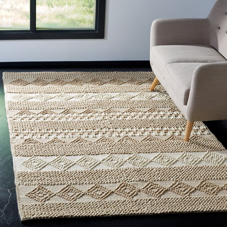 Billie Hand-Tufted Wool/Cotton Beige/Ivory Area Rug In
