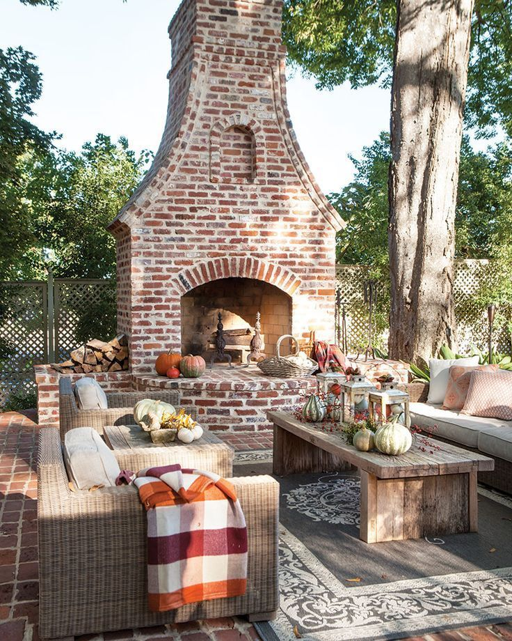 Design The Perfect Outdoor Living Room In 2020 Outdoor Fireplace Backyard Patio Outdoor Rooms #outdoor #living #room #with #fireplace