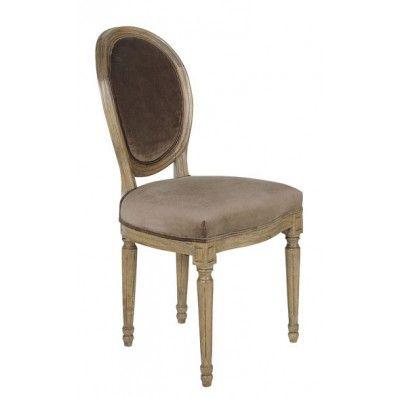 Chaise Médaillon brun Marron : Jardin d'Ulysse, vente Chaises et fauteuils Marron