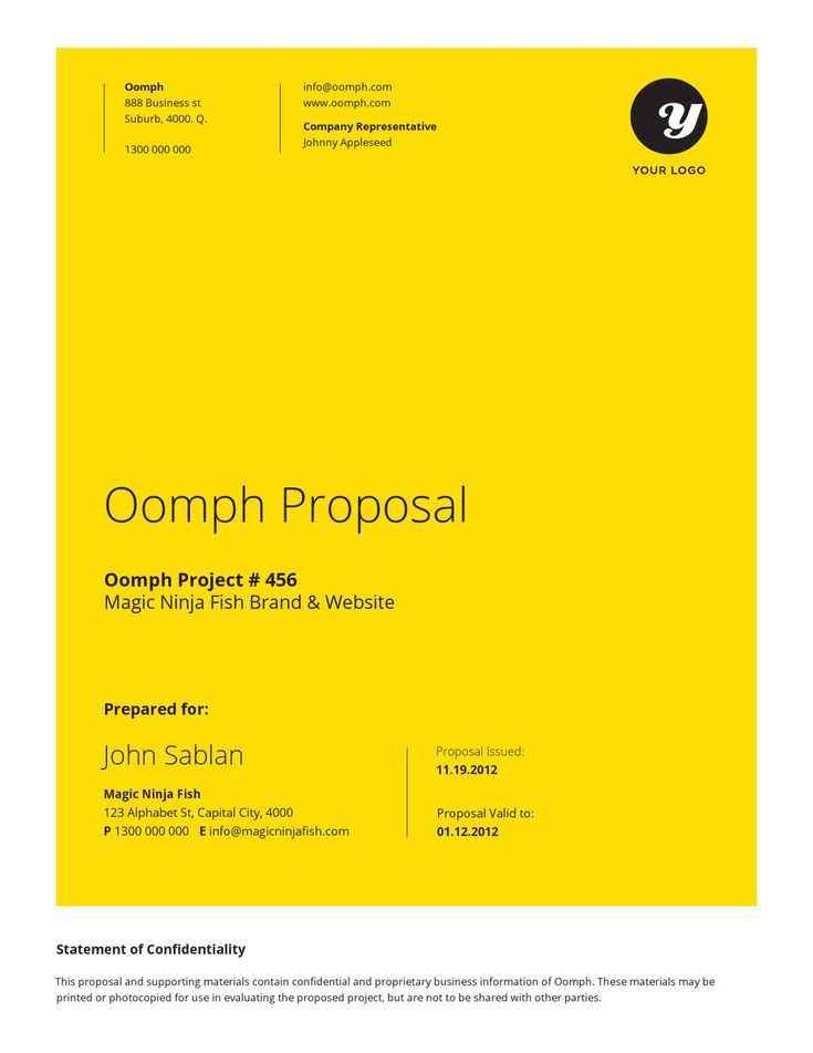 Proposl  A sharp & professional project proposal template for creative businesses .