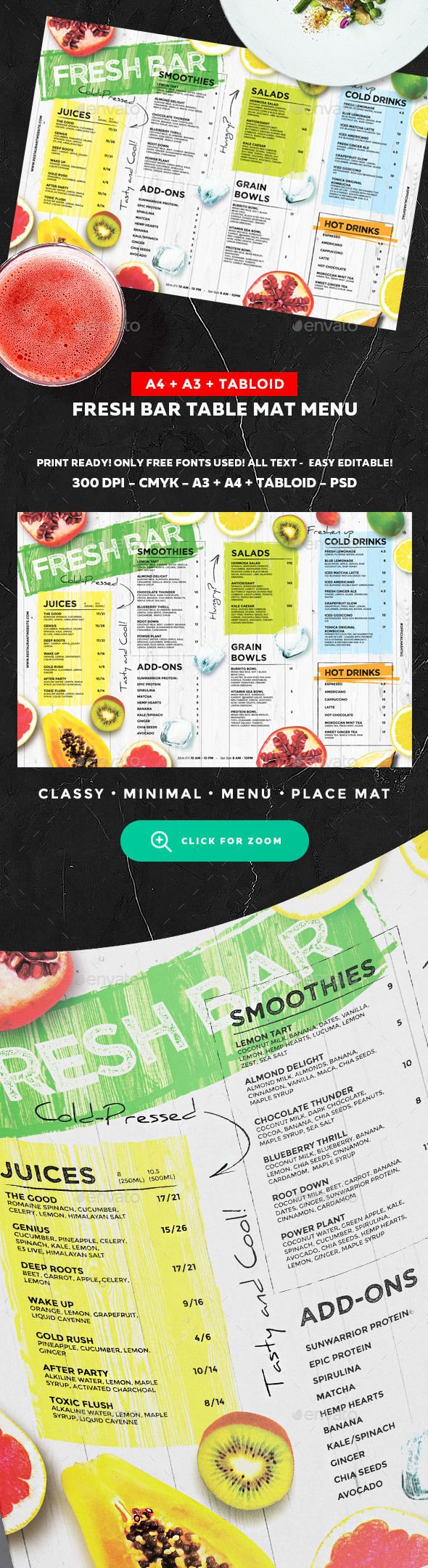 Juice Drinks Menu — Photoshop PSD #watermelon • Download ➝ https://graphicriver.net/item/juice-drinks-menu/20250323?ref=pxcr