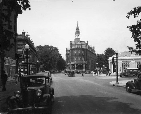 State Street At Loockerman Downtown Dover In 1936 The Old Richardson Hotel