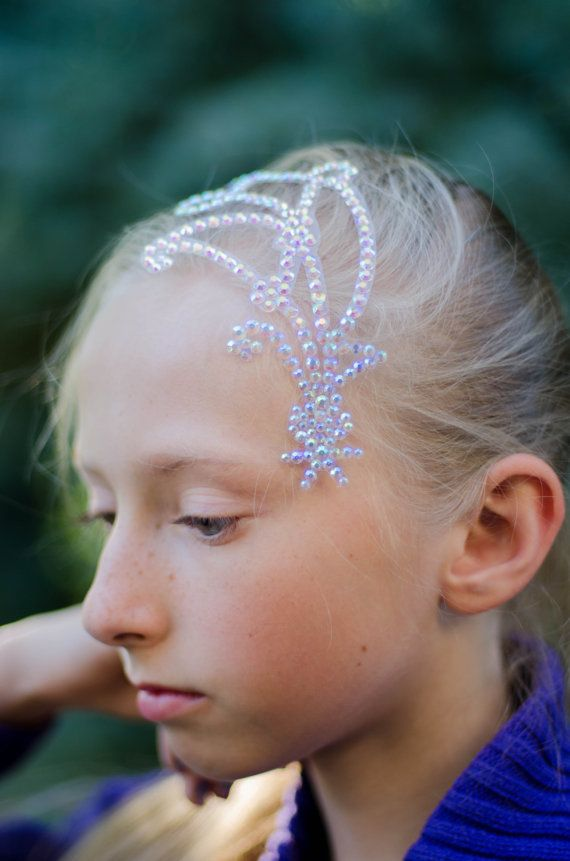 Hair Jewelry Crystal Leaves Crystal Ballroom Dance by TaniaCraft