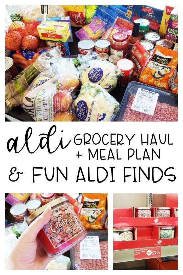 Aldi Haul 2018 Groceries Meal Plan Meal Planning Aldi Meal Plan Family Meal Planning Healthy