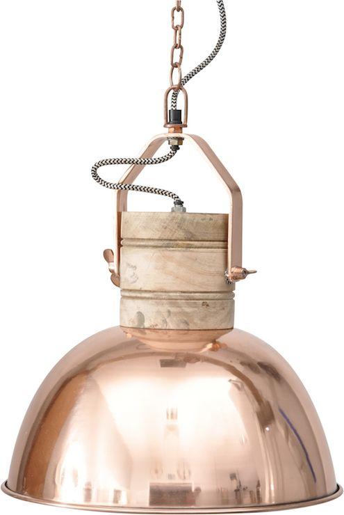 Loft Wood and Copper Industrial Pendant (Pendant light)