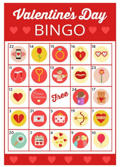 Free Valentine's Day Bingo Game Printable! This would work great at a Valentine'...
