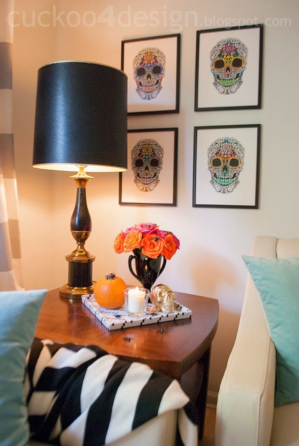 Cuckoo 4 Design: DIY Halloween Mexican skull wall art and a $200 giveaway