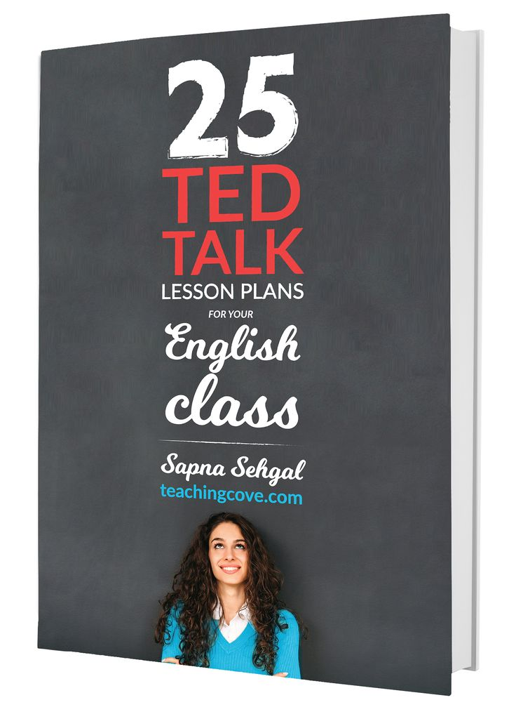 Want 25 TED Talk Lesson Plans for Your English Class? In this exciting, engaging e-book, you'll receive 25 complete TED talk lesson plans on 5 diverse topics for your English class. Comprehension, Discussion, pre-watching and follow-up activities for your English class included! Only $1 per lesson plan! Join The Teaching Cove Community to access free English teaching resources, organizational hacks and motivational tips. Get free weekly motivational posters, too! www.teachingcove.com
