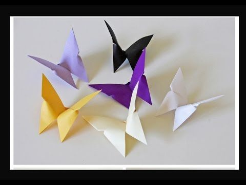 Origami Butterfly. Awesome decor. Fashion jewelry. DIY - Easter. Оригами бабочка - украшение дома - YouTube