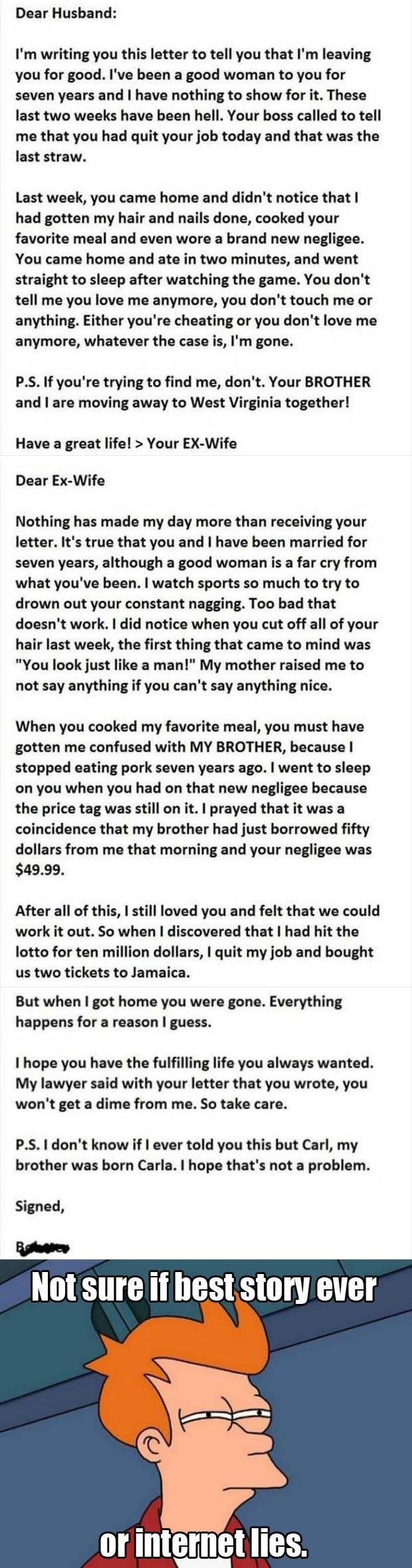 Husband Has The Best Response To His Cheating Wife Ever