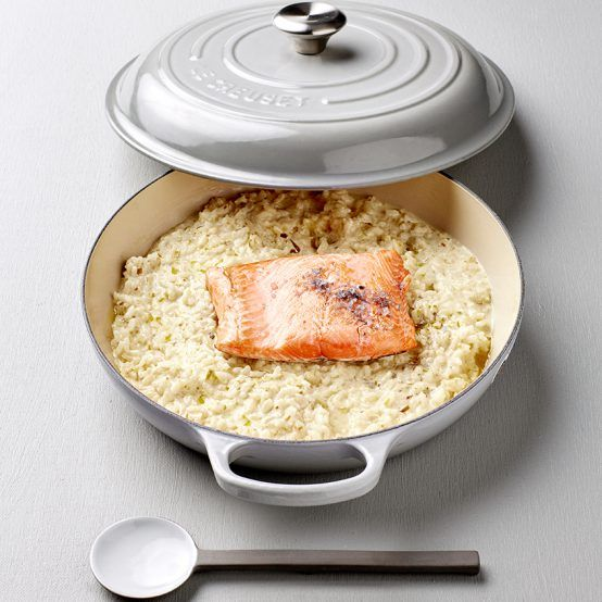 This luxuriously creamy risotto is perfectly balanced by the fresh flavours of the salmon for a fancy midweek dinner. The seasoning adds an…