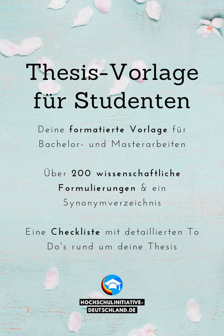 Education master thesis