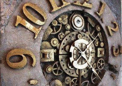 Duży zegar ścienny z wahadłem loft 106cm Kukowski