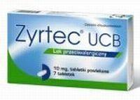 Zyrtec UCB N7 chronic and seasonal allergic rhinitis, allergic conjunctivitis, chronic idiopathic urticaria