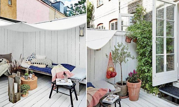 I en lillebitte gårdhave i København har Abelone Jochumsen og hendes familie bygget en overdækket terrasse, der ligger i direkte forlængelse af boligen og derfor fungerer som et ekstra rum lige fra forårssolens første stråler rammer.