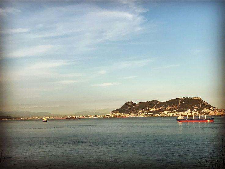Peñón de Gibraltar desde Punta Carnero, Algeciras (Cádiz)