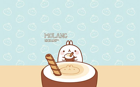 Molang Cute Korean BunnyDesktop Wallpaper Art