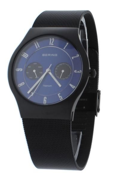 FREE US SHIPPING. BERING 11939-078 Men's Watch Brushed Black Titanium Case Blue Sunray Dial. Manufacturer Warranty Included.