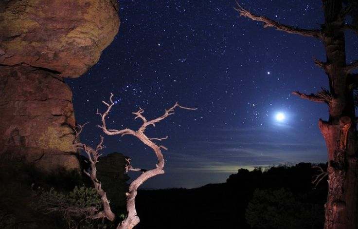"""Jack Suman's """"Moonrise in the Chiricahuas,"""" an entry in the Arizona Highways Online Photography Contest."""