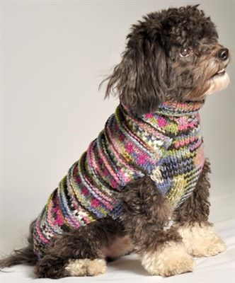 Purple WoodStock Cable Knit Dog Sweater by Chilly Dog