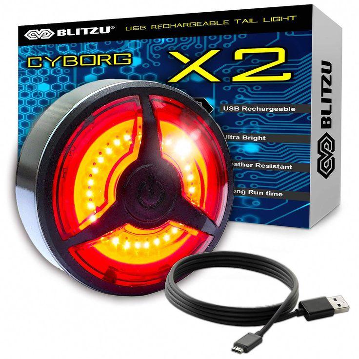 BLITZU Ultra Bright Bike Light X2 USB Rechargeable