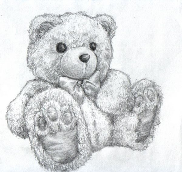 10 lovely teddy bear drawings for inspiration teddy for Amazing drawings of roses