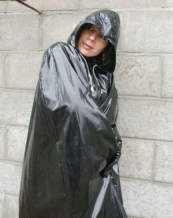 Shiny black suits Lorraine Ward
