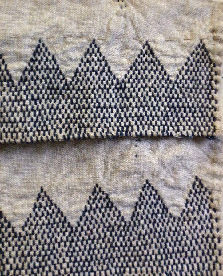 Sri | A Pair of Sashiko Stitched Akutogake: Rustic Heel Guards