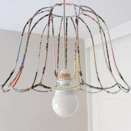 Don't you just love this trend of fabric wrapped wire lampshades - also know as ghost shades! You can totally design your own unique lampsha...