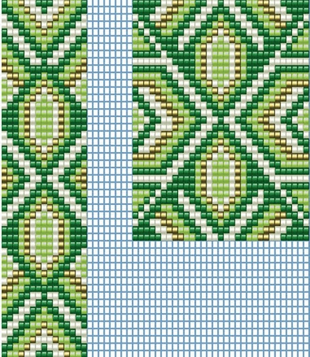"2 ""Gerdanov"" Loom Beadwork patterns  #heartbeadwork  #loombeading"