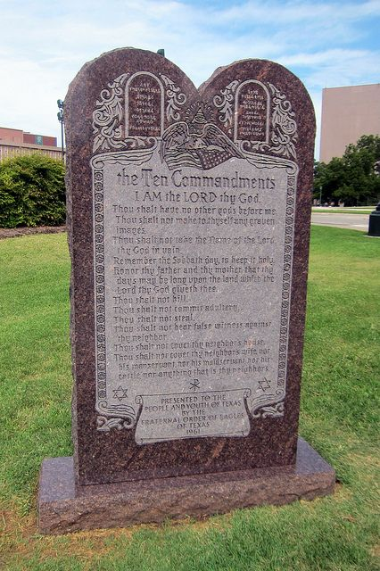 The Ten Commandments monument became the object of a controversial US Supreme Court case in 2005 called Van Orden v. Perry. The court upheld the right of the state to have the monument on the grounds of the State Capitol, saying it wasn't a violation of the separation of church and state.