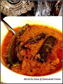 Hyderabadi Cuisine: Hyderabadi Mirchi ka salan